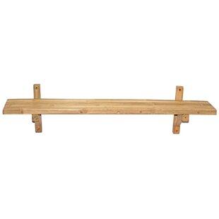 Jove Bamboo Wall Shelf