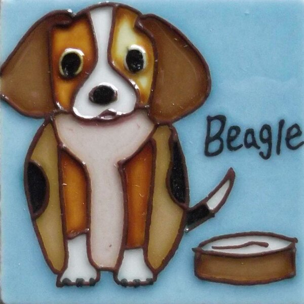 Dog Tile Magnet by Continental Art Center