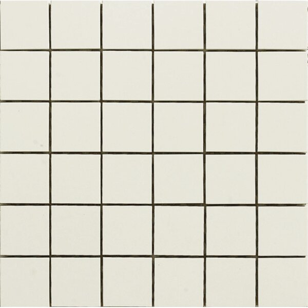 2 x 2 Porcelain Mosaic Tile in White Jade by Kertiles