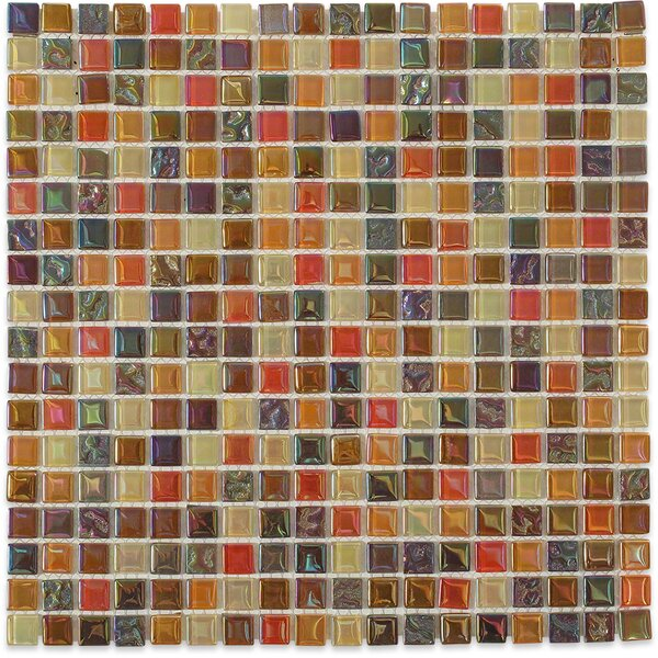 Capriccio 0.6 x 0.6 Glass Mosaic Tile in Scandicci by Splashback Tile