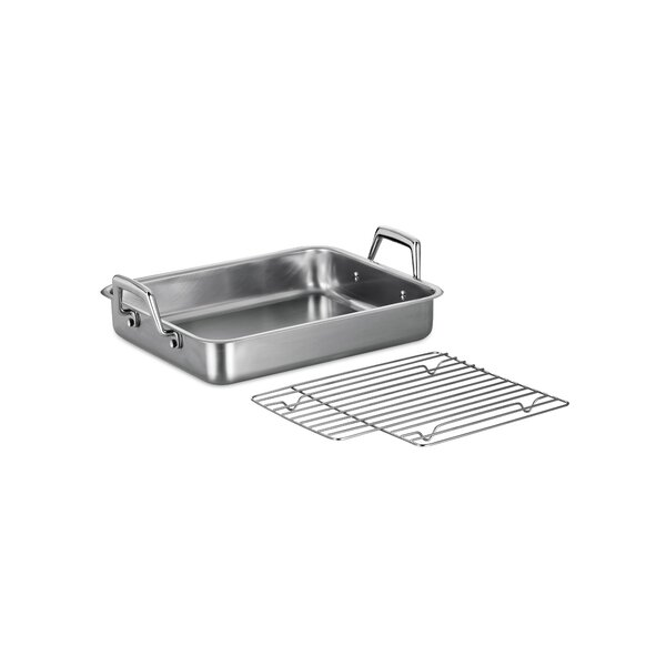 Gourmet Prima 13.5 Lasagna Roasting Pan  with Basting Grill by Tramontina