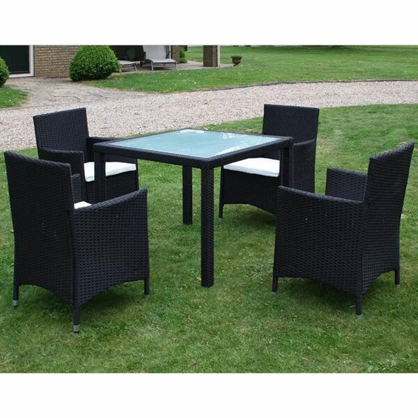 Swind Outdoor 5 Piece Dining Set with Cushions by Ivy Bronx
