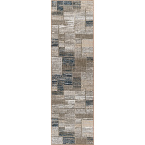 Bade Taupe Area Rug by Ebern Designs