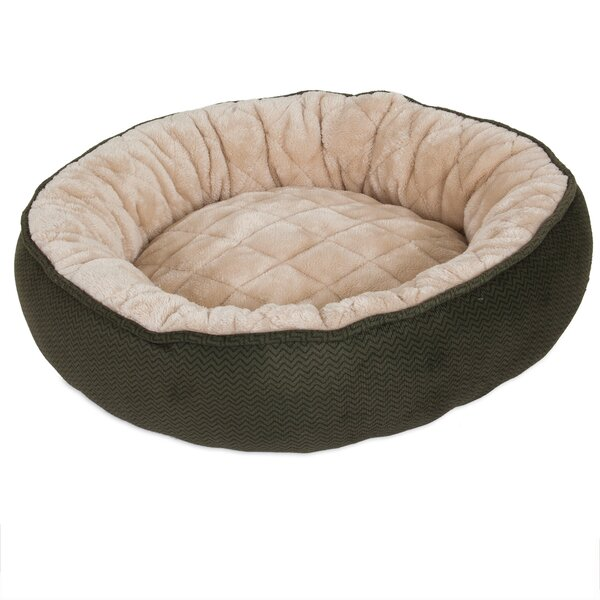 Zeus Quilted Round Lounger Bolster Dog Bed by Tucker Murphy Pet