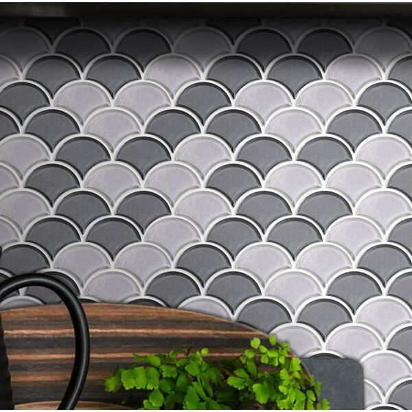 Fan 3 x 4 Glass Mosaic Tile