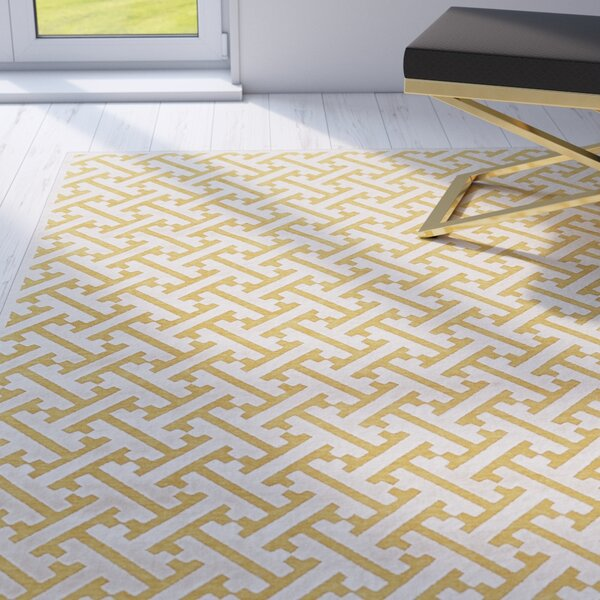 Gwendoline Yellow Area Rug by Willa Arlo Interiors