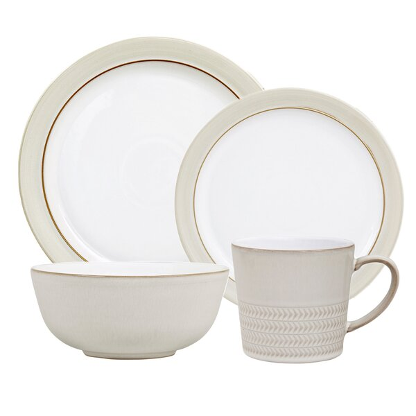 Natural Canvas 4 Piece Place Setting Set, Service for 1 by Denby