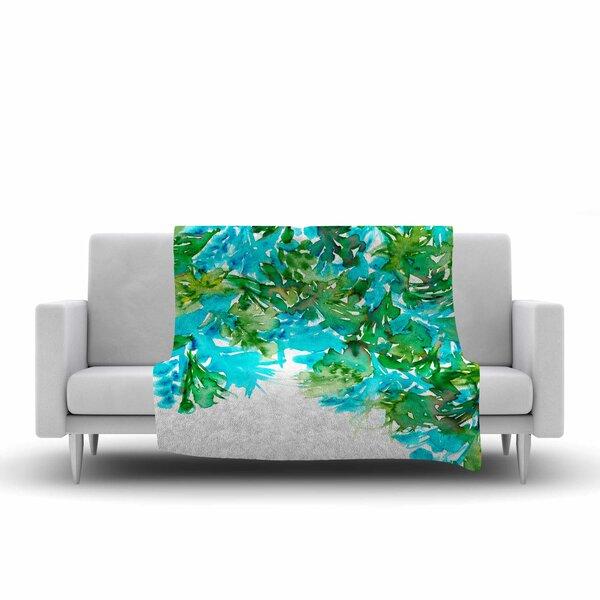 Floral Cascade by Ebi Emporium Fleece Blanket by East Urban Home