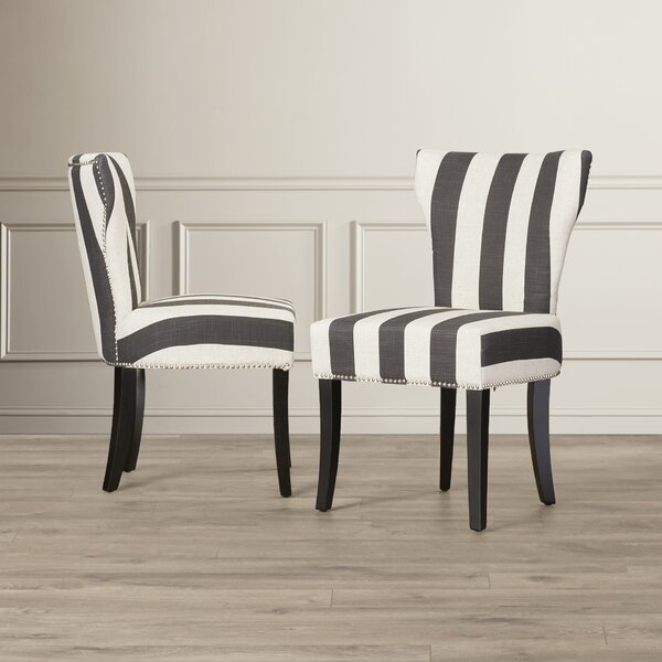 Jappic Upholstered Side Chair In Black (Set Of 2) By Willa Arlo Interiors