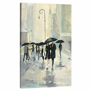 'City in the Rain' Gallery Painting Print on Wrapped Canvas by Willa Arlo Interiors
