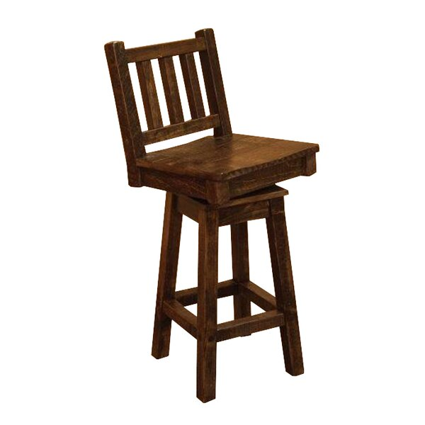Angelica Swivel Bar Stool by Millwood Pines