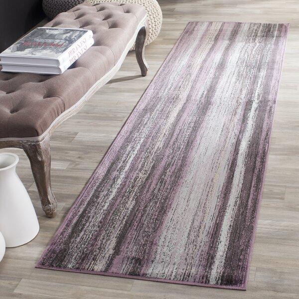 Zelda Purple/Charcoal Area Rug by Zipcode Design