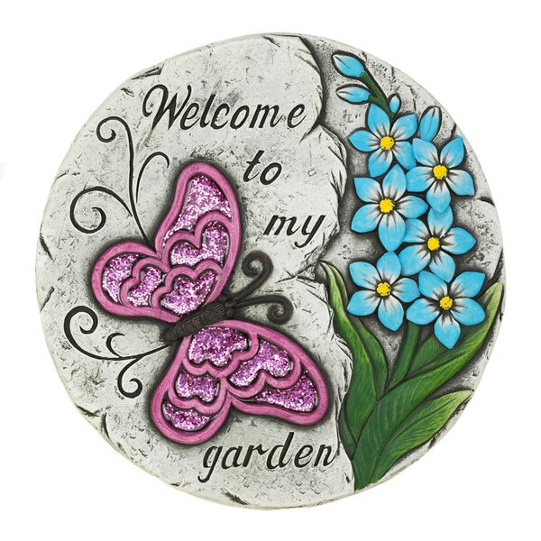 Luyster Butterfly Garden Stepping Stone by Winston Porter