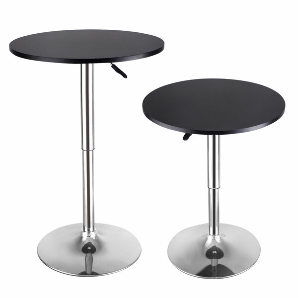 Adler 2 Piece Adjustable Pub Table by Ebern Designs