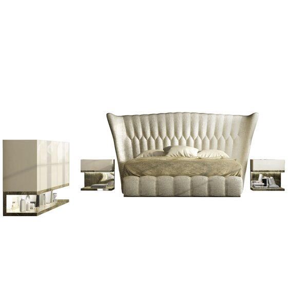 Jerri King 4 Piece Bedroom Set by Everly Quinn