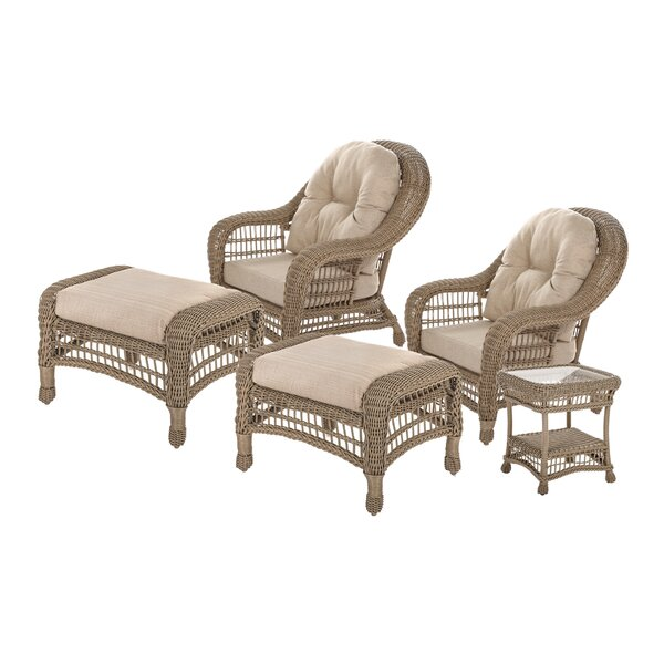 Demopolis Outdoor Garden 5 Piece Seating Group with Cushions by Highland Dunes