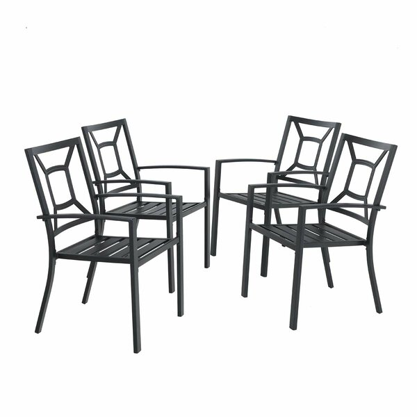 Dacheng Stacking Patio Dining Chair (Set Of 4) By Winston Porter by Winston Porter No Copoun