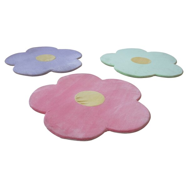 Baldree 3 Piece Daisy Flower Kids Indoor/Outdoor Area Rug Set by Harriet Bee