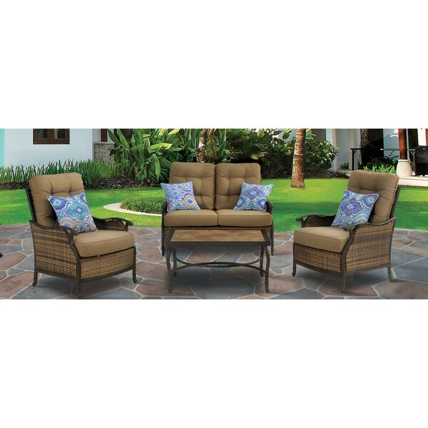 Dimaggio 4 Piece Sofa Seating Group with Cushions by Red Barrel Studio