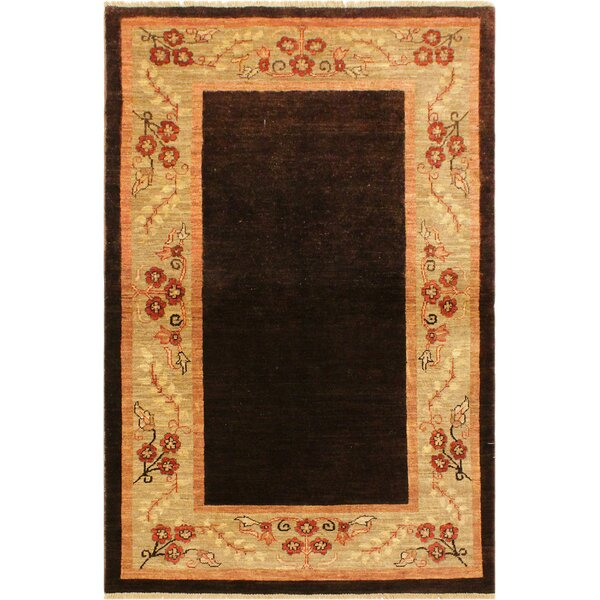 One-of-a-Kind Milo Peshawar Hand Knotted Wool Brown/Tan Area Rug by Fleur De Lis Living