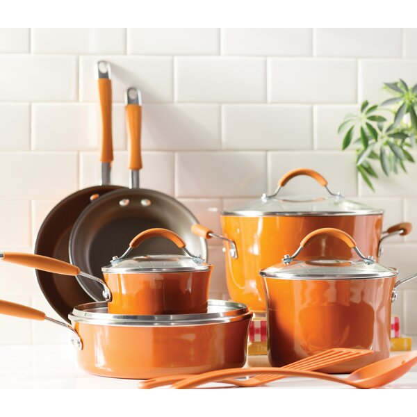 Cucina 12 Piece Non- Stick Cookware Set By Rachael Ray.
