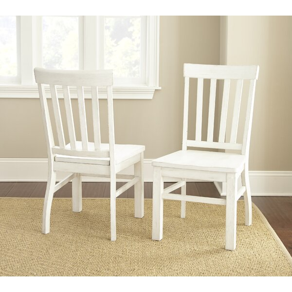 Duclos Solid Wood Dining Chair (Set of 2) by Highland Dunes