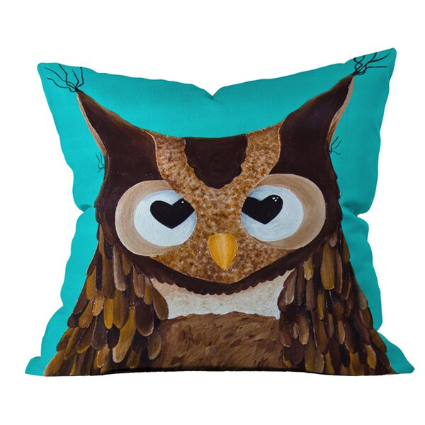 Mandy Hazell Owl Love You Outdoor Throw Pillow by Deny Designs