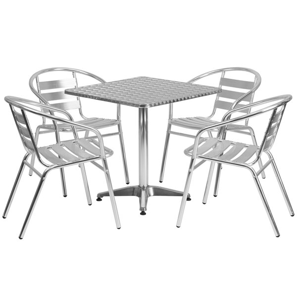 Hamish Square Indoor Outdoor 5 Piece Bar Height Dining Set by Ebern Designs