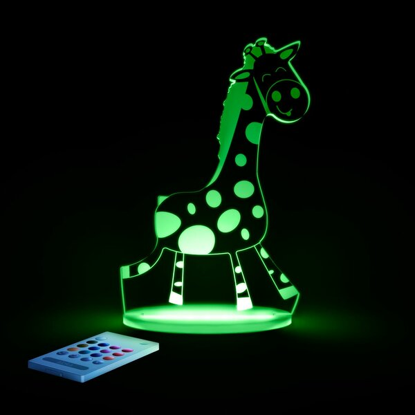 Aloka Starlights LED Giraffe Night Light with Remote Control by Lumenico