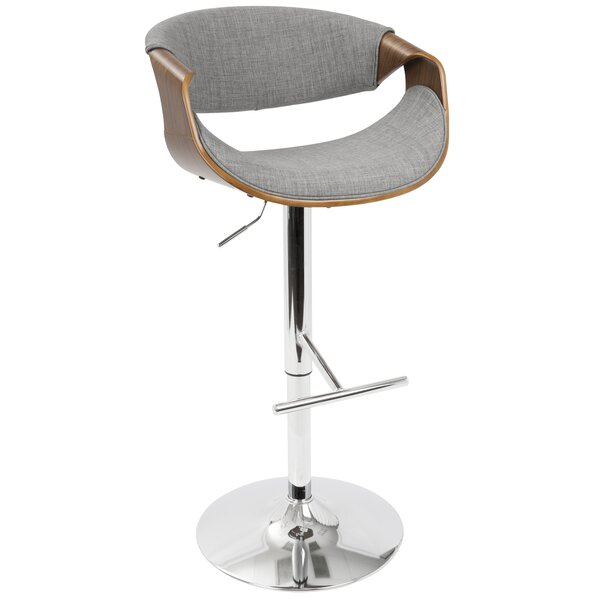 Lake Mary Adjustable Height  Swivel Bar Stool by Wade Logan
