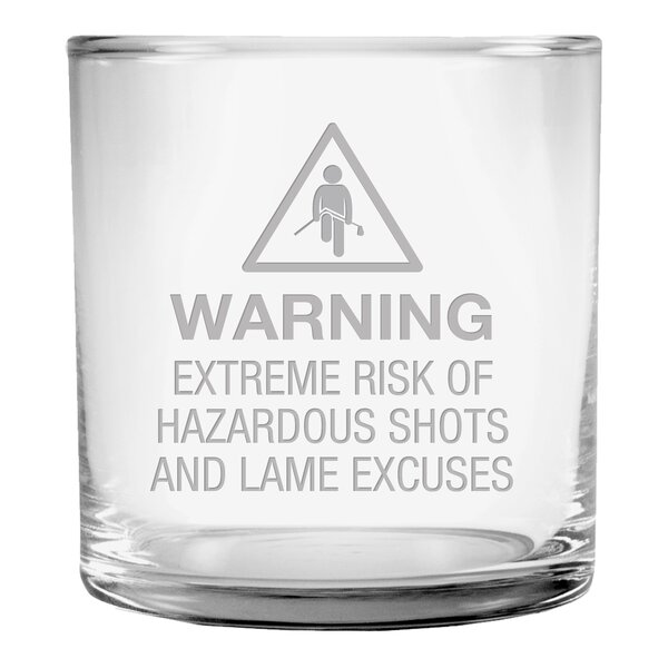 Hazardous Shots Slim Rocks Glass (Set of 4) by Susquehanna Glass