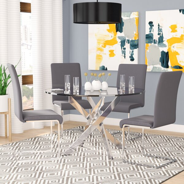 Fields 5 Piece Dining Set By Orren Ellis Discount