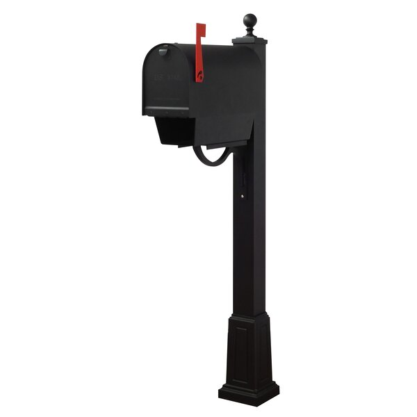 Titan Aluminum Curbside Mailbox with and  Springfield Mailbox Post with Base by Special Lite Products