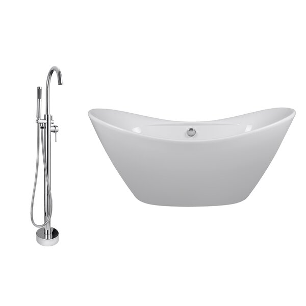 67 x 28.5 Soaking Bathtub with Faucet by AKDY