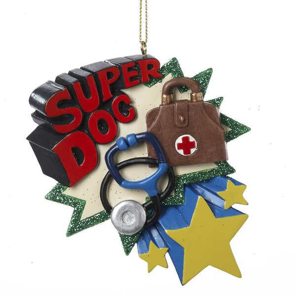 Resin Super Doc Hanging Figurine by Kurt Adler