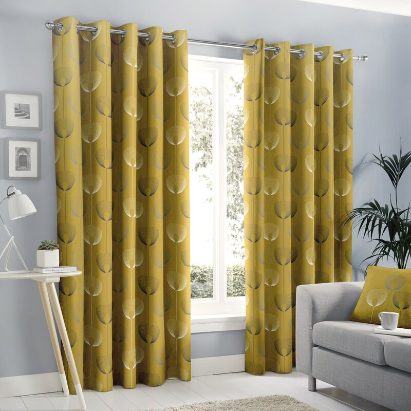 Lorimer Eyelet Room Darkening Curtains by 17 Stories