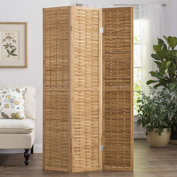 3 East Haven 3 Panel Room Divider by Beachcrest Home