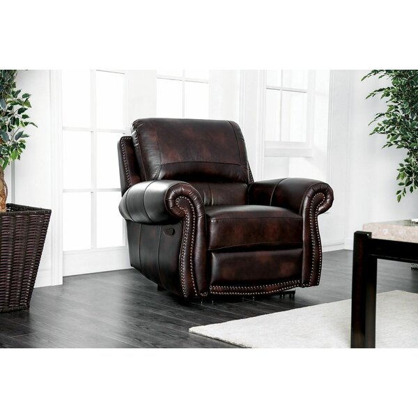 Brodhead Leather Recliner by Darby Home Co