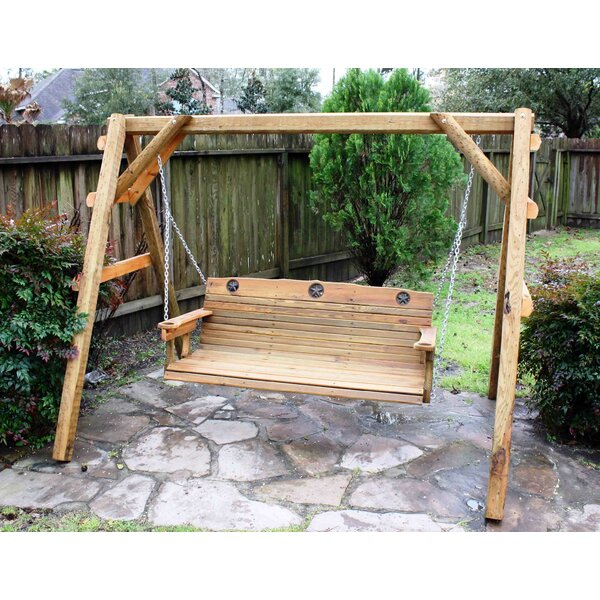 Clermont Texas Star Porch Swing by Millwood Pines