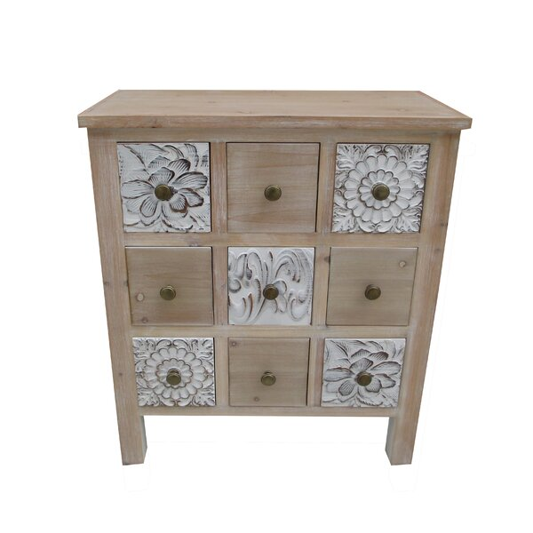 Boyabat 9 Drawer Accent Cabinet by Bungalow Rose Bungalow Rose