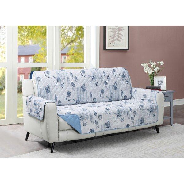 Ocean Postcards Box Cushion Sofa Slipcover By Highland Dunes