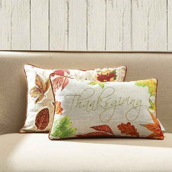 Lashley Thanksgiving Lumbar Pillow by Three Posts