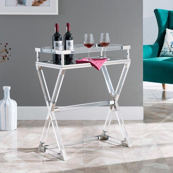 Bulloch Acrylic Serving Tray Table