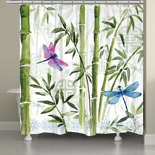 Find the perfect Tona Bamboo Dragonflies Shower Curtain By Red Barrel Studio