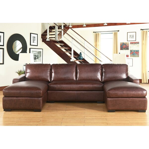 Cowden Leather Sectional by 17 Stories