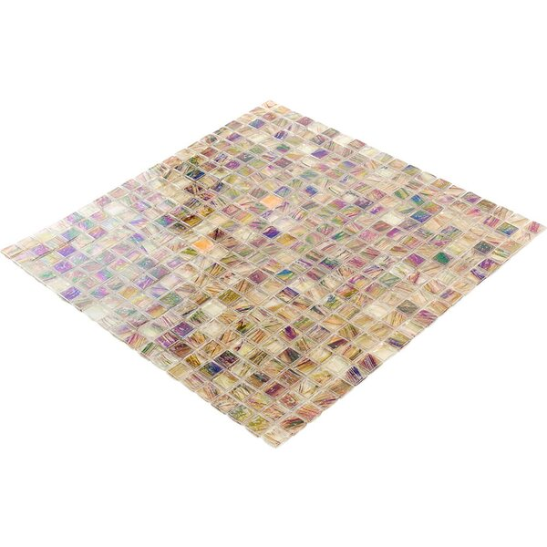 Breeze 0.62 x 0.62 Glass Mosaic Tile in Brown/Yellow by Splashback Tile