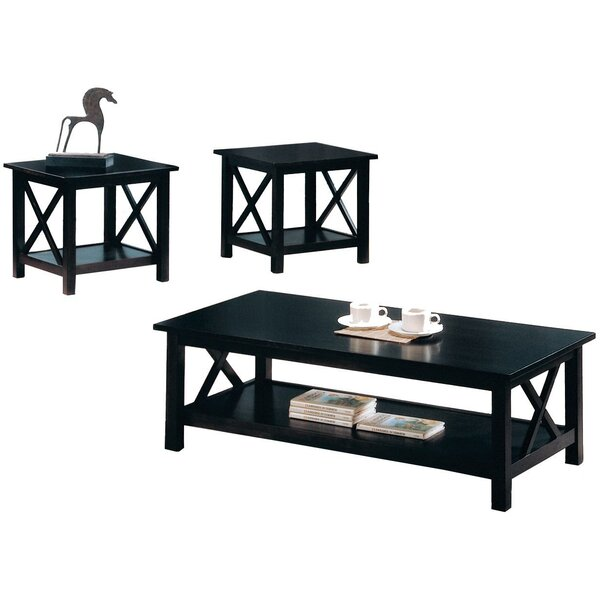 Delancey Wooden 3 Piece Coffee Table Set by Loon Peak