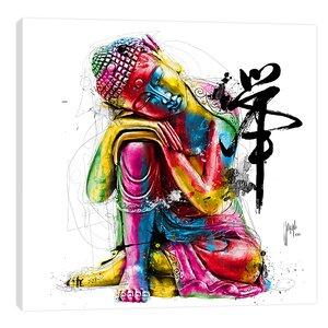 Buddha by Patrice Murciano Graphic Art on Wrapped Canvas by Jaxson Rea
