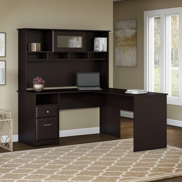 Hillsdale L-Shape Credenza Desk with Hutch by Red Barrel Studio