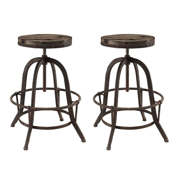 Collect Adjustable Height Swivel Bar Stool (Set of 2) by Modway